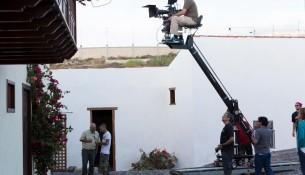 Momento del rodaje en Tenerife