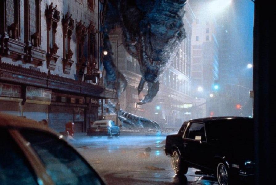 John Mc Clane visionando al T-Rex en NY.